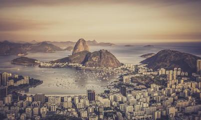 Sunset over Botafogo Bay in Rio de Janeiro