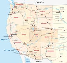 Karte Der Westlichen Vereinigten Staaten