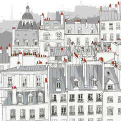 Obraz na PlexiRoofs of Paris