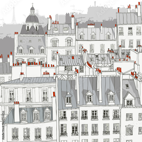 Roofs of Paris - 68750056