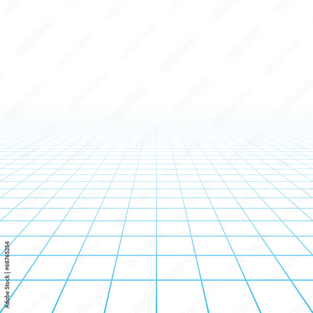 Fototapeta Perspective grid background