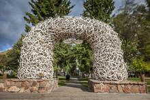 Elk Antler Arches In Jackson T...