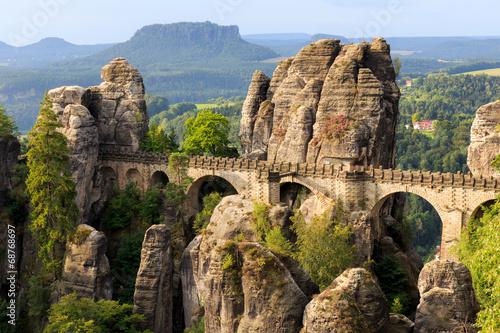 Leinwand Poster Bastion Brücke in Sachsen in der Nähe von Dresden