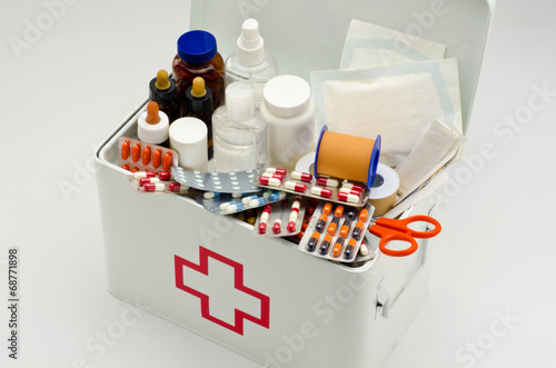 Fotografie, Tablou  First aid box