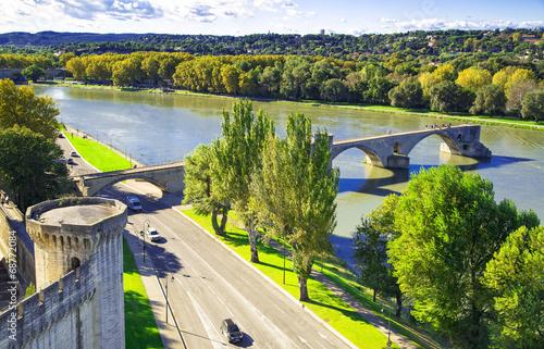 Pont Saint-Benezet in Avignon, France Canvas Print