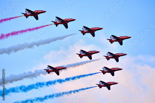Foto  Red Arrows formation