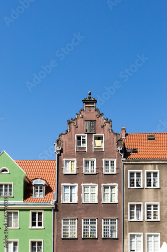 Photo Stands Colorful houses in Gdansk, Poland