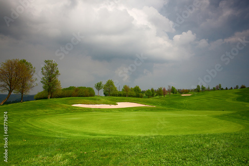 Wall Murals Pistachio On the golf course before heavy storm
