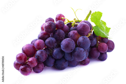 Valokuvatapetti Ripe grapes isolated.