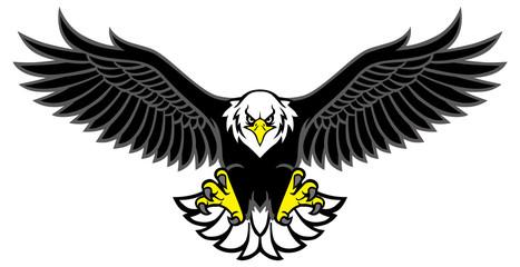 maskota orla raširila krila