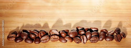 Poster Café en grains Arabica coffee beans texture