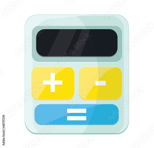 Vector Calculator Flat Icon - Buy this stock vector and explore