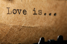Love Is, The Inscription On A ...