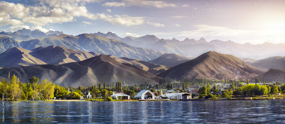 Fototapety, obrazy: Issyk Kul lake panorama