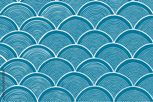 traditional chinese wave pattern Fotobehang