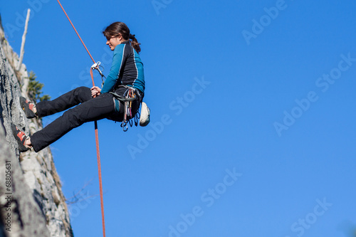 Abseiling Canvas Print