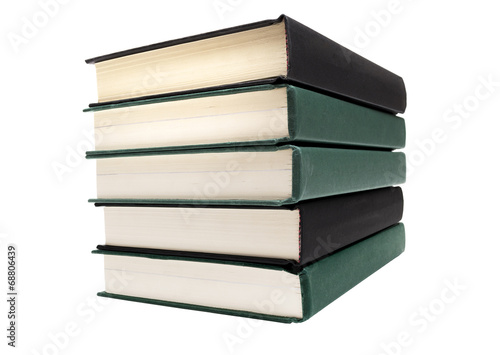 Valokuva  Big Stack Of Books Isolated On White