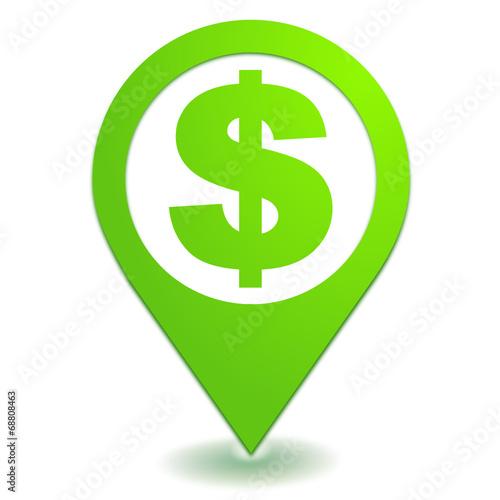 Fotografie, Obraz  dollar symbole localisation vert