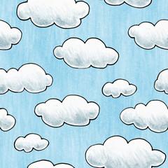 fototapeta ręcznie rysowane tekstury chmura