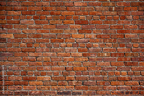 Foto op Canvas Baksteen muur the old red brick wall