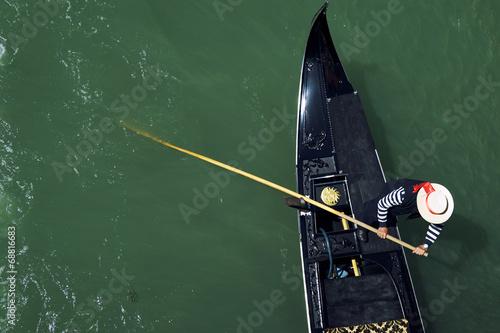 Spoed Foto op Canvas Gondolas Venice Italy Venetian Gondolier Punting Gondola