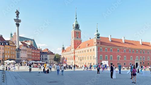 obraz PCV Zamek Królewski w Warszawie, Polska -Stitched Panorama