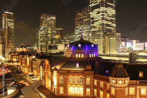 Foto op Plexiglas Tokyo 東京駅 夜景
