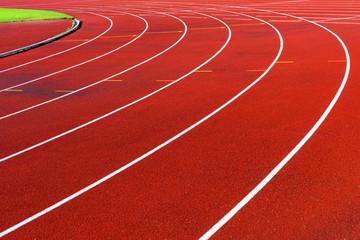 Fototapeta Curve of running tracks
