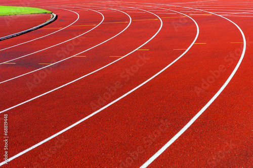 Fotografie, Obraz  Curve of running tracks