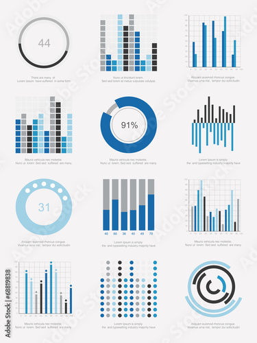 Photo  set of infographic Elements
