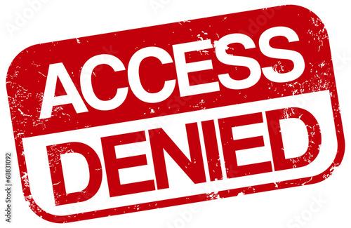 Fotografie, Obraz  access denied stamp