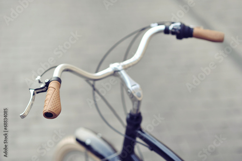 Tuinposter Fiets Vintage bike handlebar