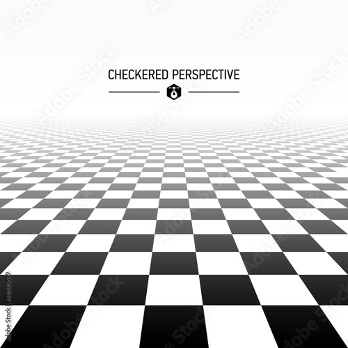 Checkered perspective background Canvas Print