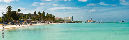 Beautiful Beach in Aruba Wallpaper Mural