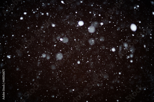 Obraz snow bokeh texture on black background - fototapety do salonu