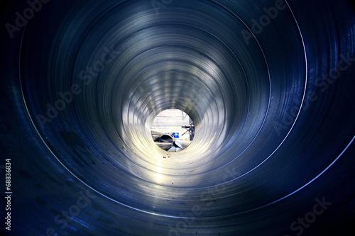 Foto pipe metal texture inside