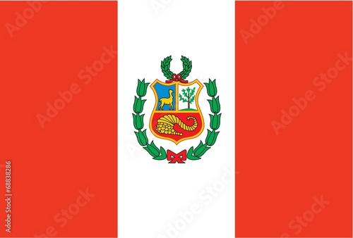 Illustration of the flag of Peru Wallpaper Mural