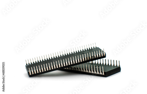 Fotografie, Obraz  Electronic microchips