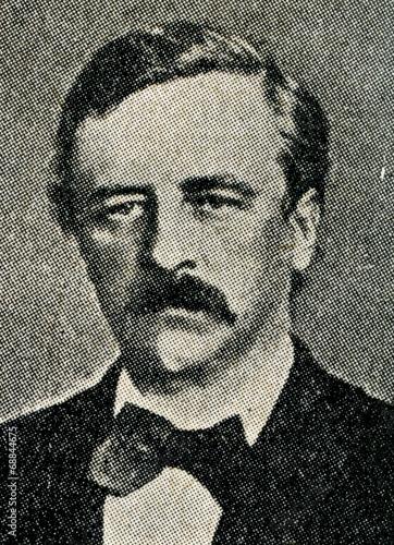 Door stickers Pole Adolf Erik Nordenskiöld, arctic explorer
