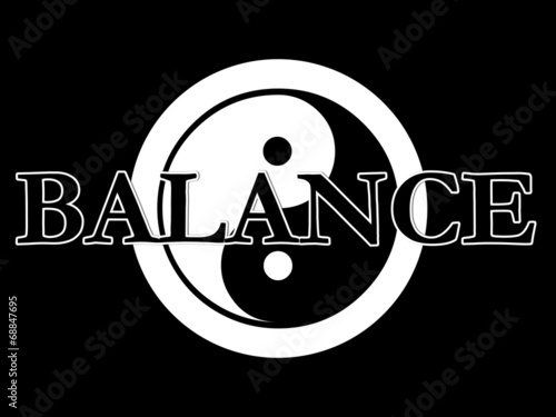 Fotografie, Obraz  yin yang illustration series balance