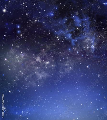 Spoed Fotobehang Nacht starry night sky deep outer space