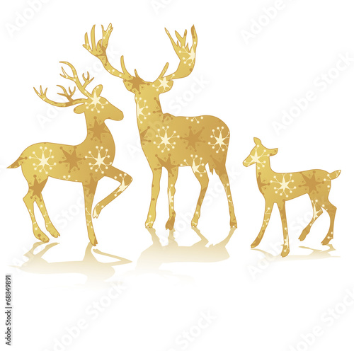 Photo  rendeer deer bambi golden silhouette