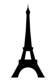 Fototapeta Fototapety z wieżą Eiffla - Eiffel tower in Paris. Vector EPS10.