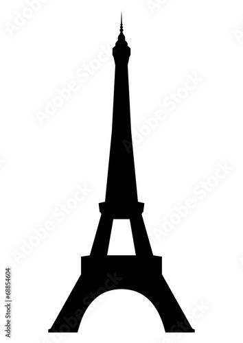 Eiffel tower in Paris. Vector EPS10. Fototapete