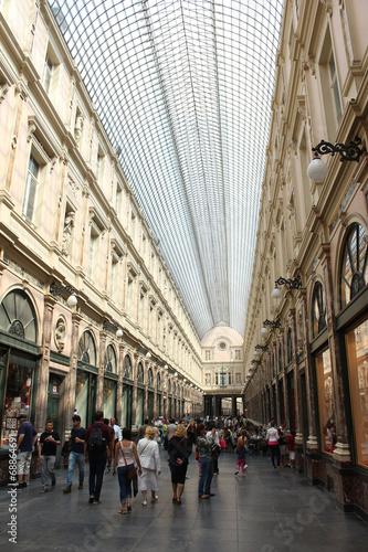 Foto op Canvas Brussel Bruxelles. Galeries Royales Saint-Hubert