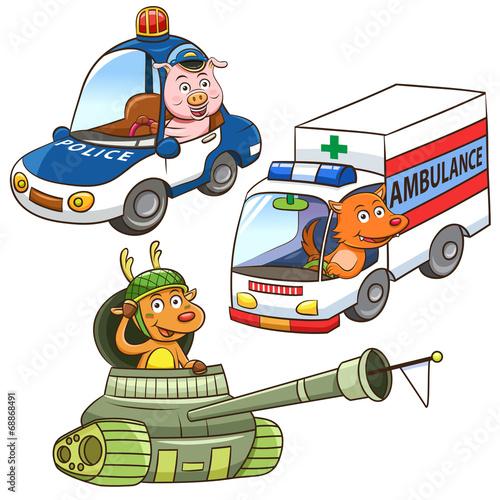 pojazd-pojazdu-zawod-cartoon
