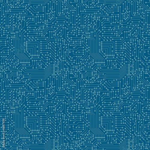 Fotografía  Seamless pattern. Computer circuit board.