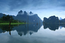 Mountain And Mist At Khao-sok ...