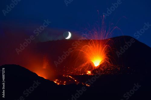 Photo sur Toile Volcan Volcano Etna, sicily, Italy 2014