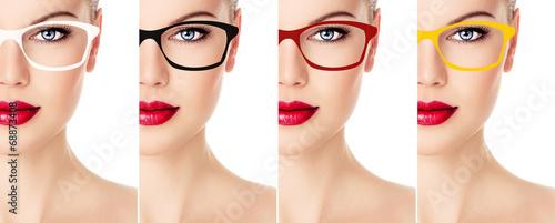 Fotografía Woman's collection of sunglasses color and rim design